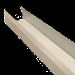 פח לבן בצורת תעלה