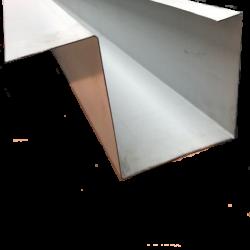 תעלה מפח לבן באורך 3 מטר