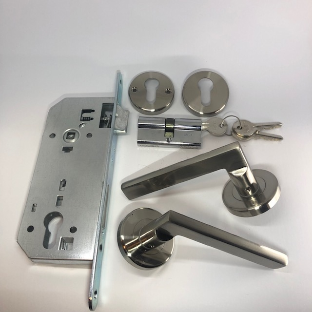 door handles with a lock system