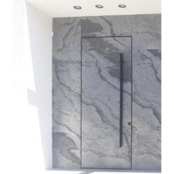 דלת מעוצבת במישור הקיר -קו 0 דגם 199116